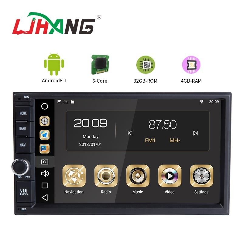 Built In Wifi Pure Android In Dash Car Dvd Player , Touch Panel Cd Dvd Player For Car